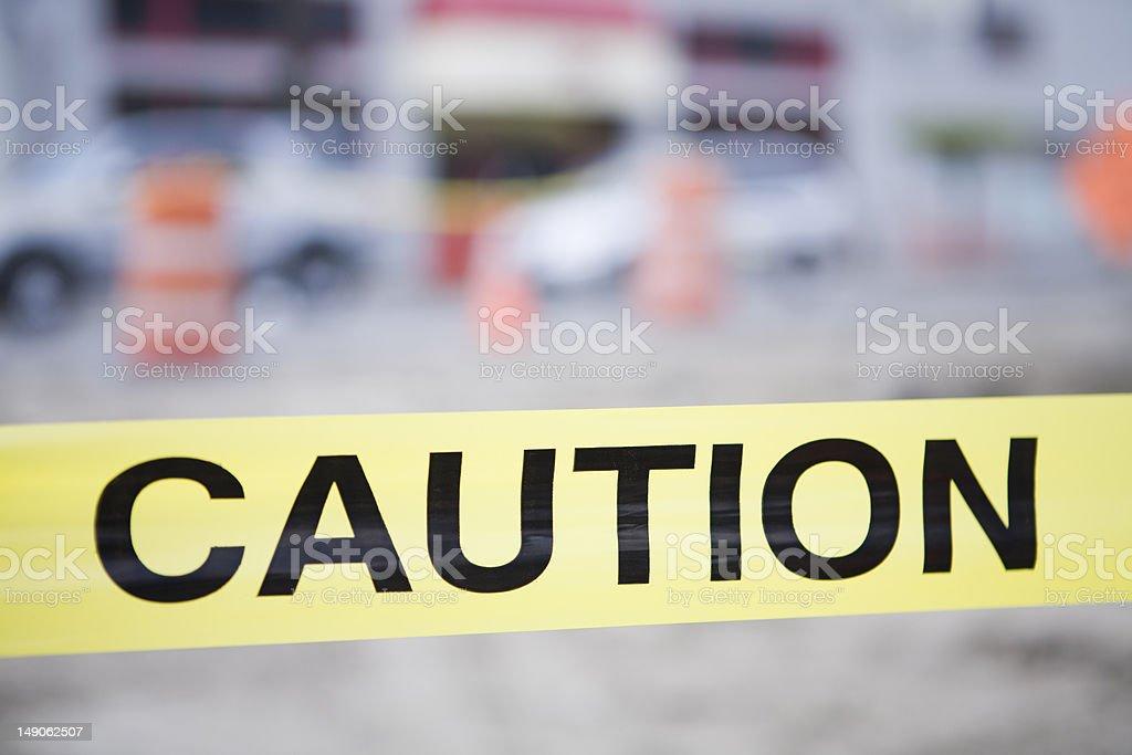 Caution advised royalty-free stock photo