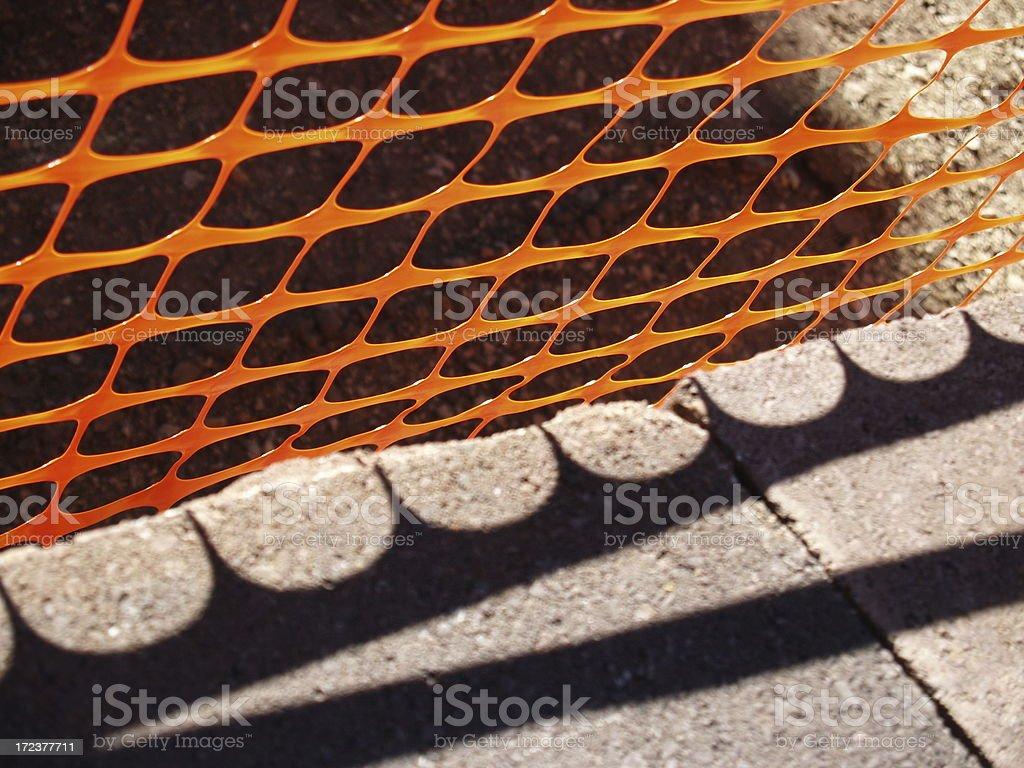 Caution - Construction Area stock photo