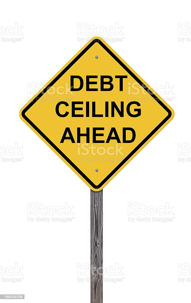 Caution - Debt Ceiling Ahead stock photo