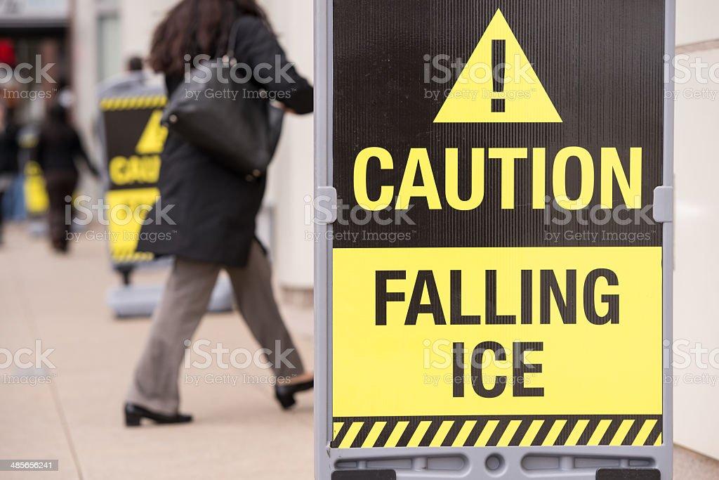 Caution Falling Ice royalty-free stock photo