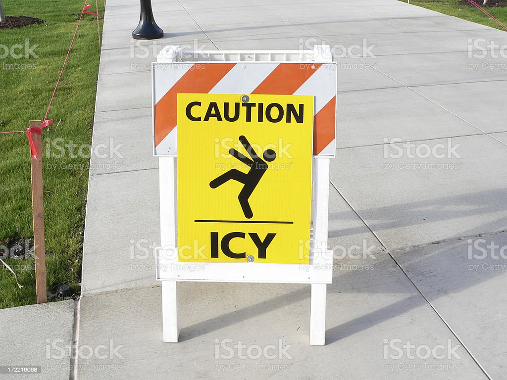Caution Icy royalty-free stock photo