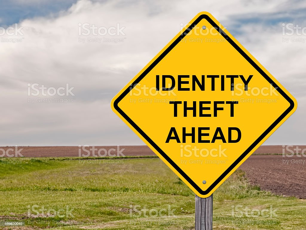 Caution - Identity Theft Ahead stock photo