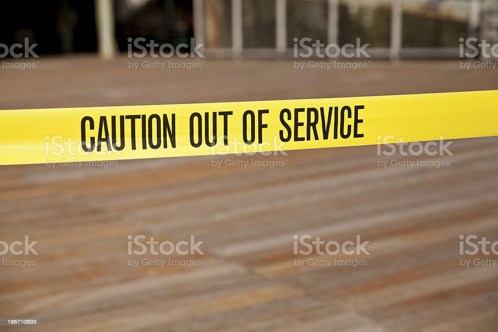 Caution Out Of Service stock photo