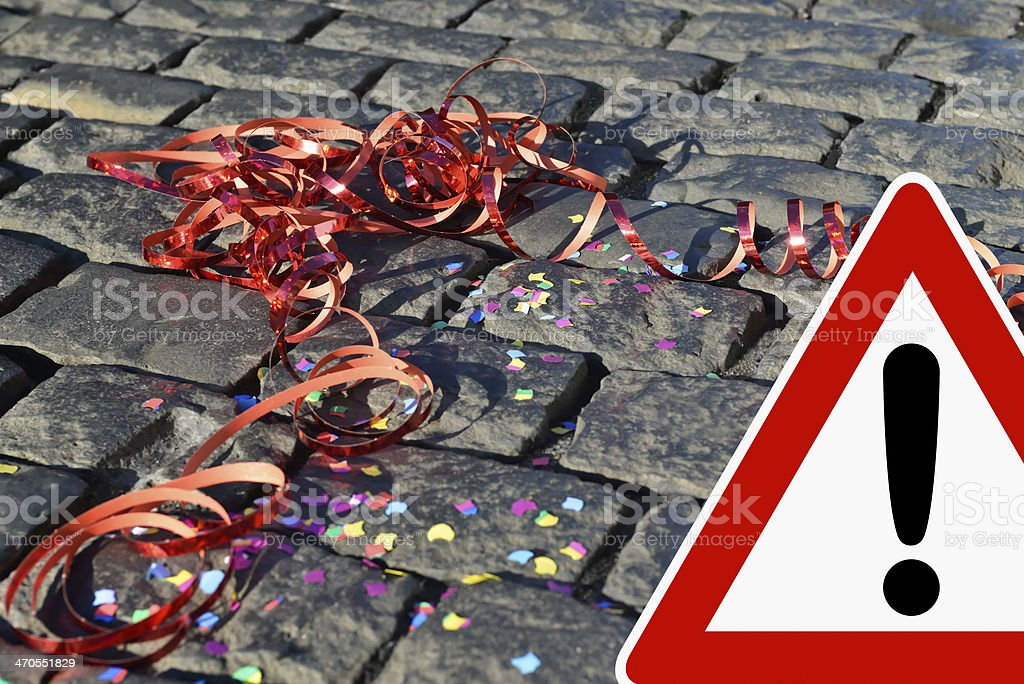 Caution - party night royalty-free stock photo