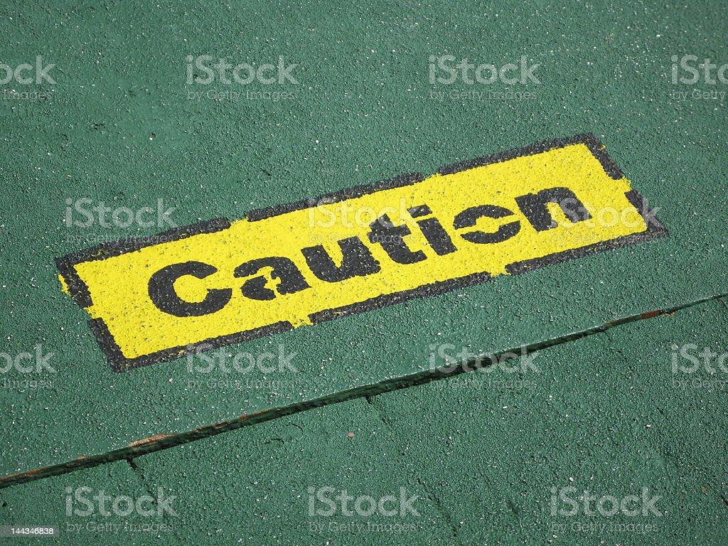 Caution royalty-free stock photo