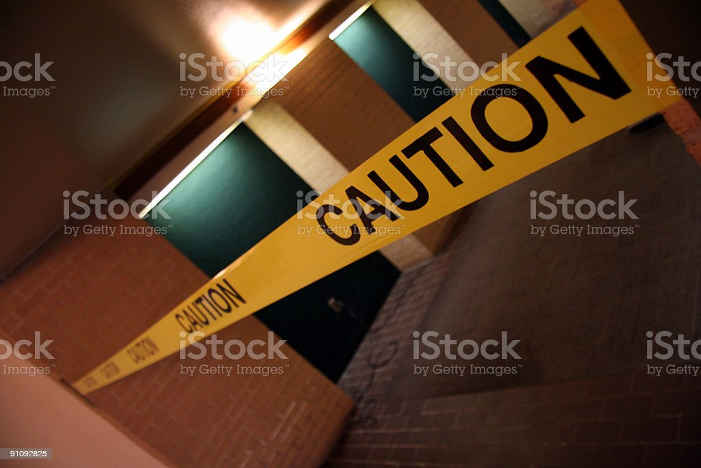 Caution! stock photo