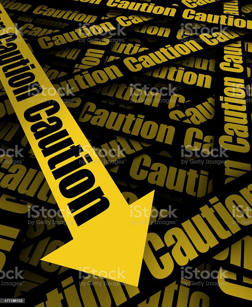 Caution Please Sign royalty-free stock photo