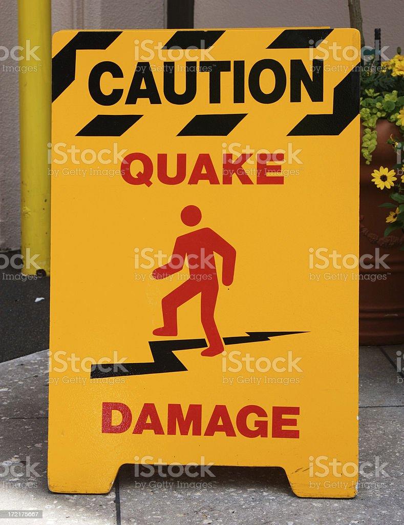 Caution Quake area royalty-free stock photo