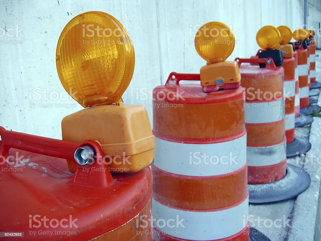 Caution Road Work royalty-free stock photo