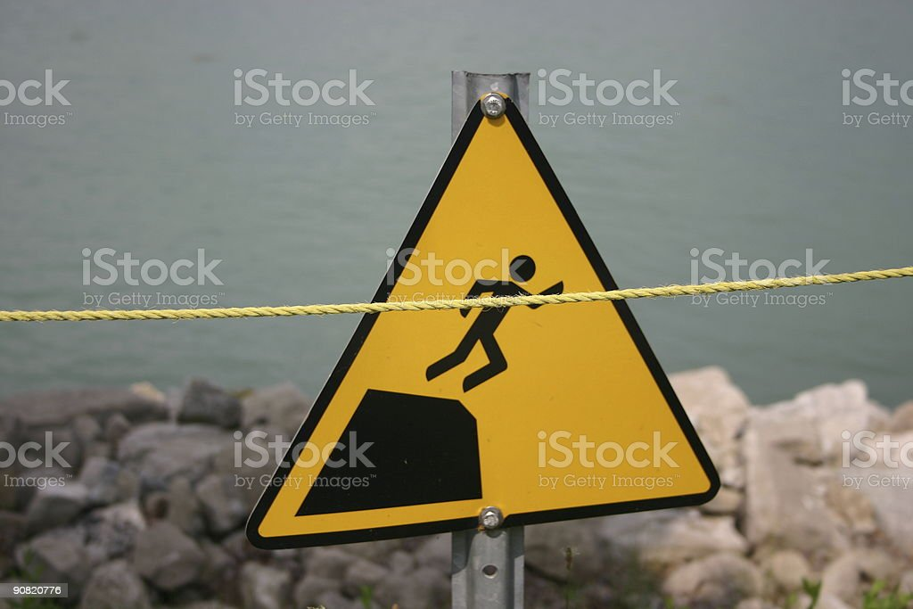 caution rocks royalty-free stock photo