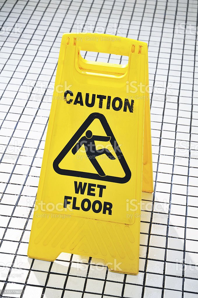 Caution Sign royalty-free stock photo