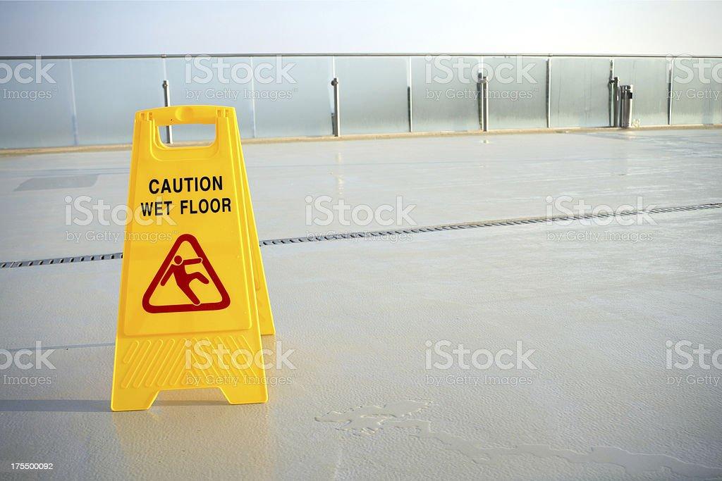 caution sign stock photo