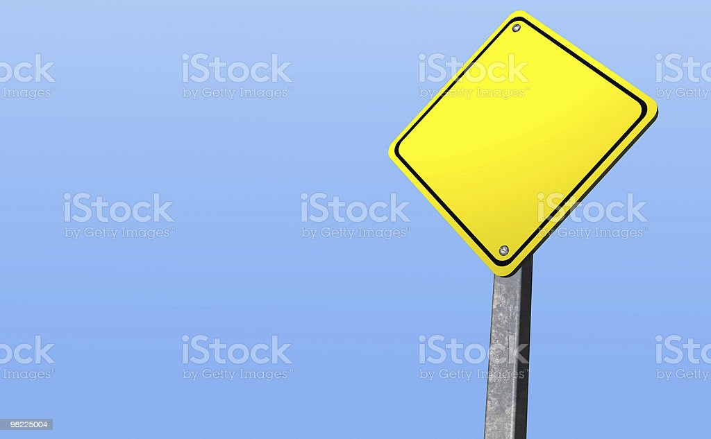 Caution Sign (3D, Clipping Path) XXL royalty-free stock photo