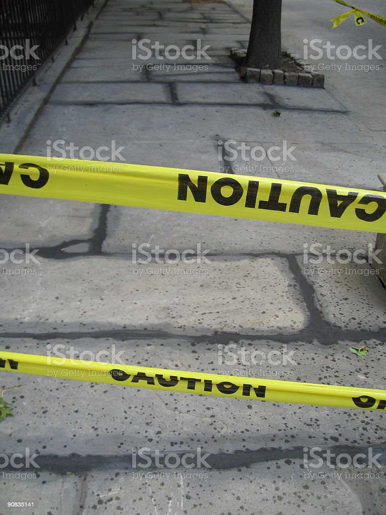 Caution Signs royalty-free stock photo