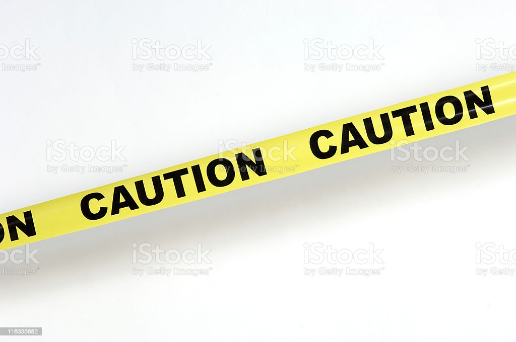 Caution tape 1 stock photo