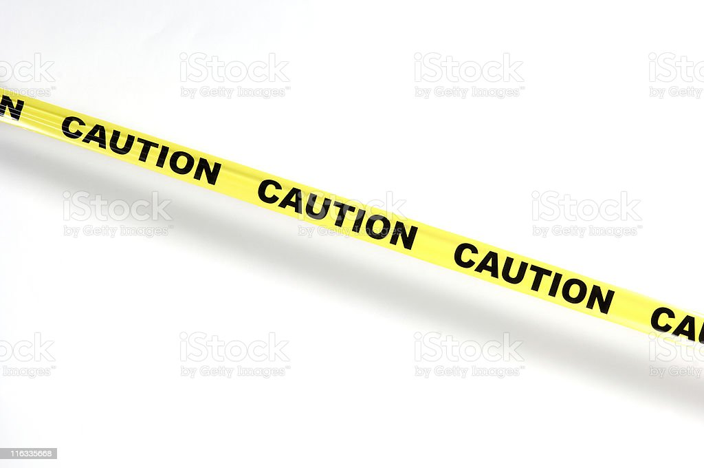 Caution tape 3 stock photo