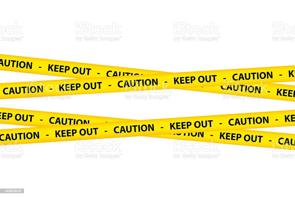Caution Tapes vector art illustration