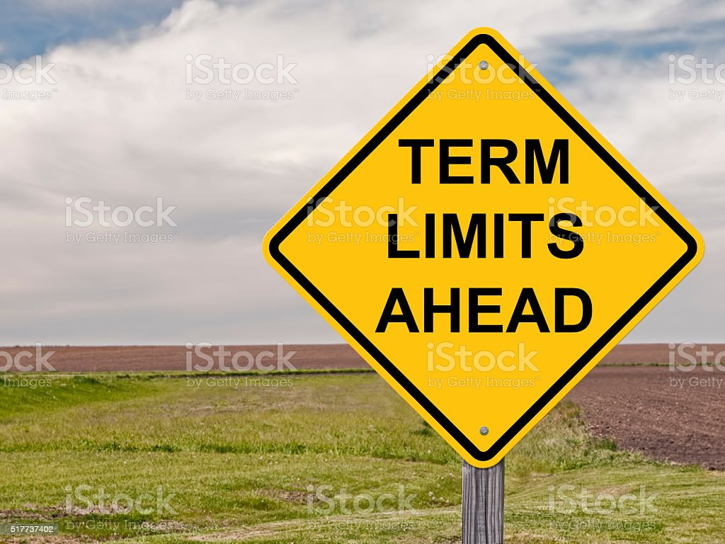 Caution - Term Limits Ahead stock photo