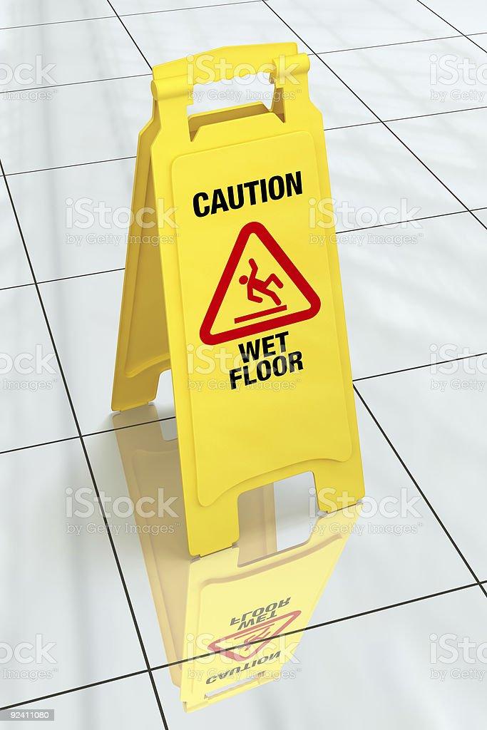 'Caution - Wet Floor' Sign stock photo