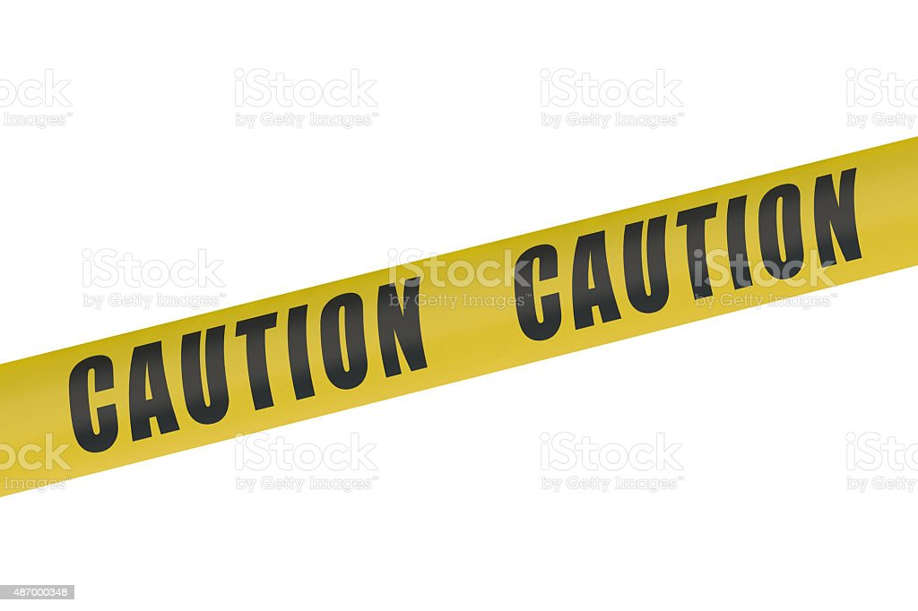 Caution Yellow Tape stock photo