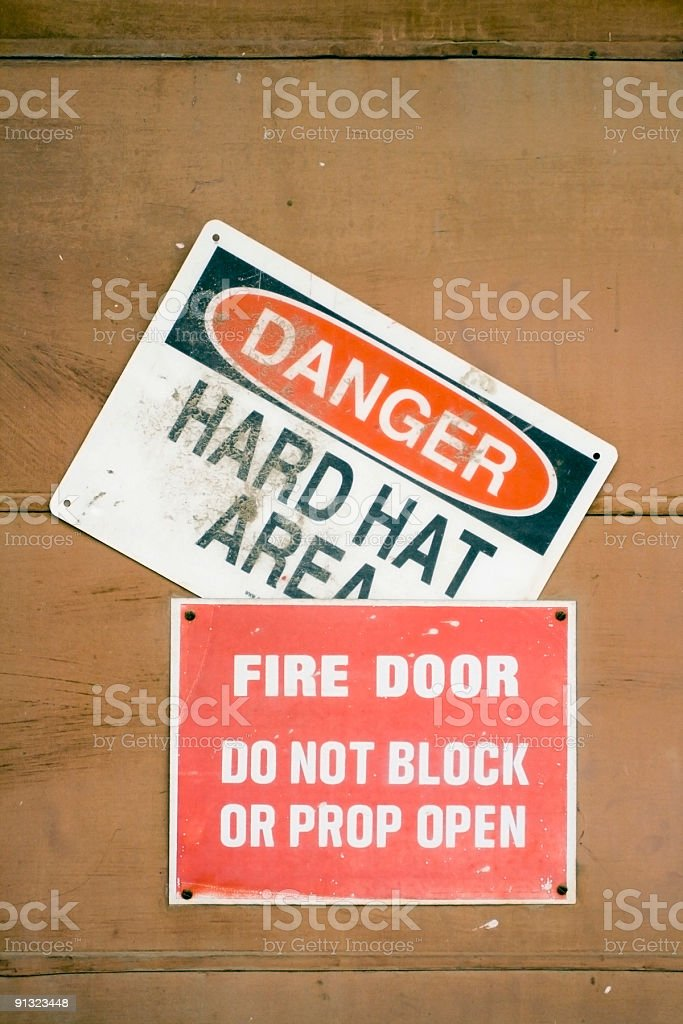 Cautionary Signs royalty-free stock photo
