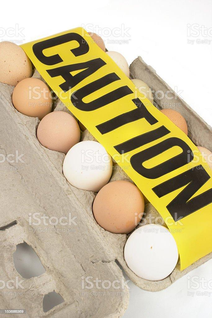 Caution..Eggs royalty-free stock photo