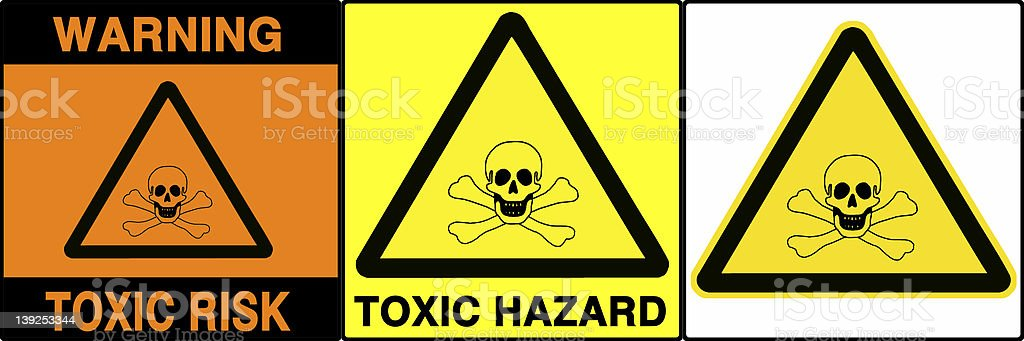 Caution/warning signs set, V royalty-free stock photo