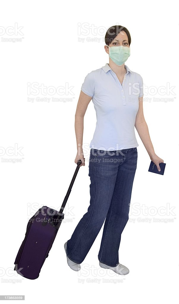 Cautious Traveller stock photo