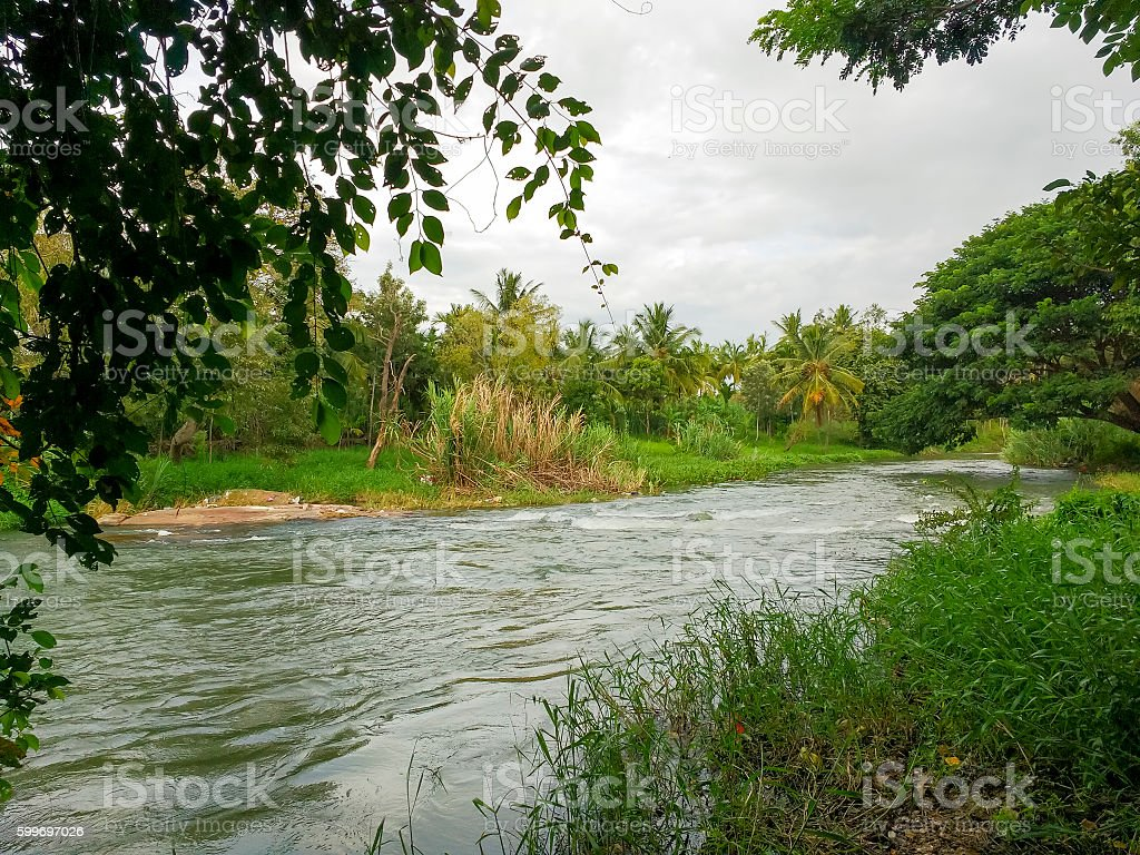 Cauvery River, Karnataka, India stock photo