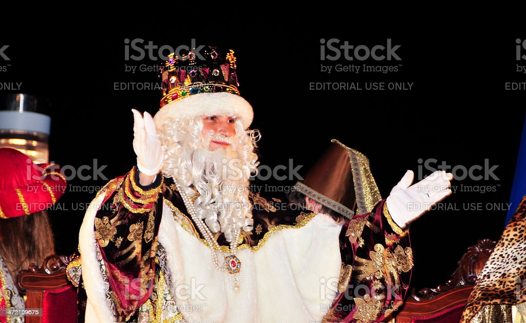 Cavalcade of Magi in Tarragona royalty-free stock photo
