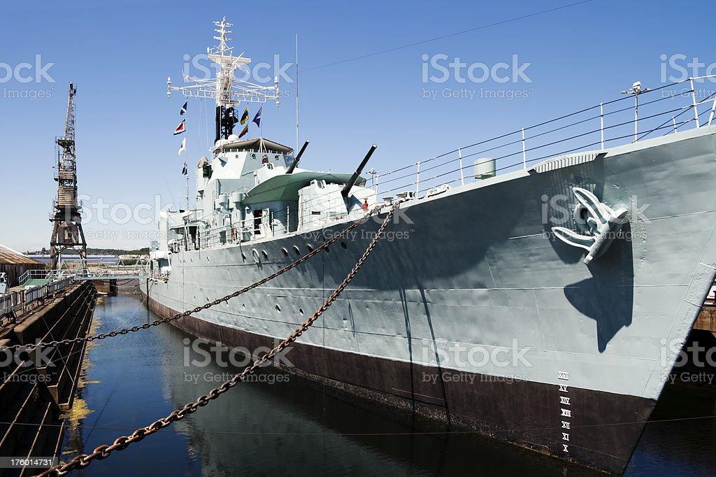 HMS Cavalier at Chatham stock photo