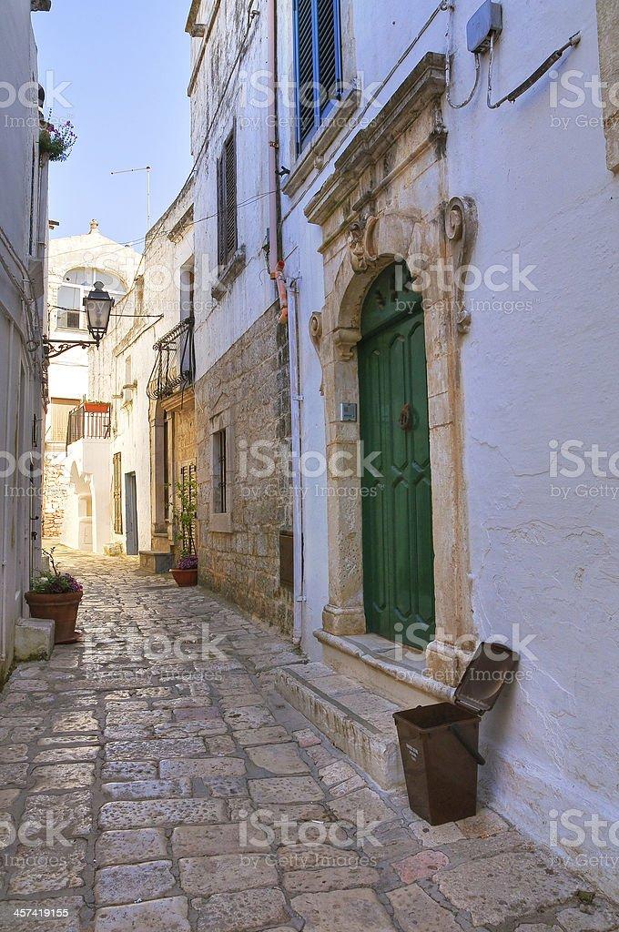 Cavallo palace. Ceglie Messapica. Puglia. Italy. stock photo