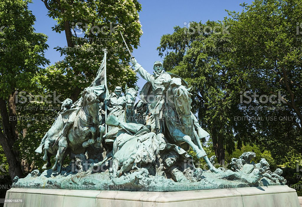Cavalry Charge, Northern Part of Ulysses S. Grant Memorial royalty-free stock photo