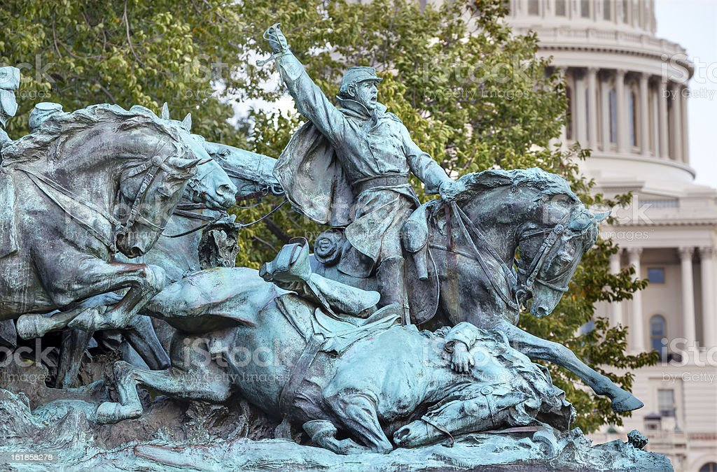 Cavalry Charge US Grant Statue Capitol Hill Washington DC royalty-free stock photo
