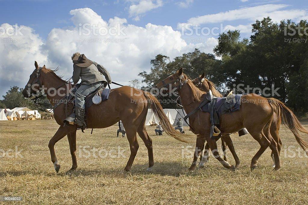 Cavalry Dismounts stock photo