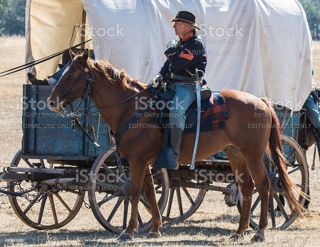 Cavalry Escort stock photo