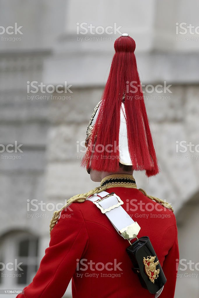 Cavalry Officer on Parade royalty-free stock photo