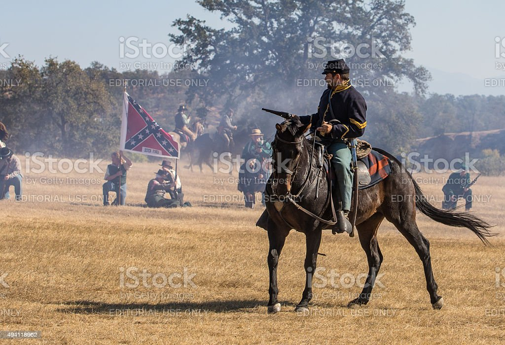 Cavalry Scout at War stock photo