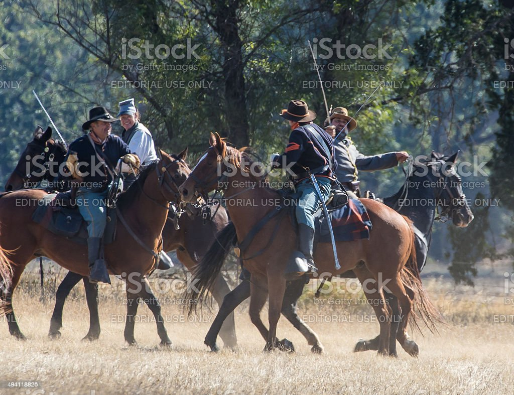 Cavalry Scouts at War stock photo