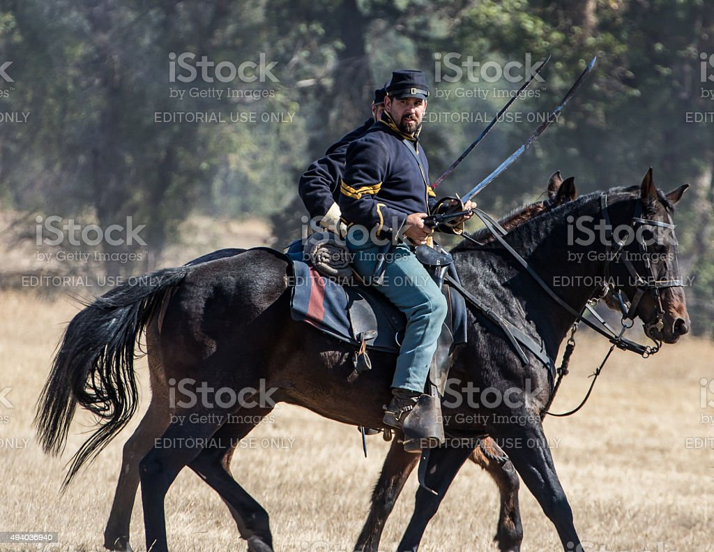 Cavalry Scouts stock photo