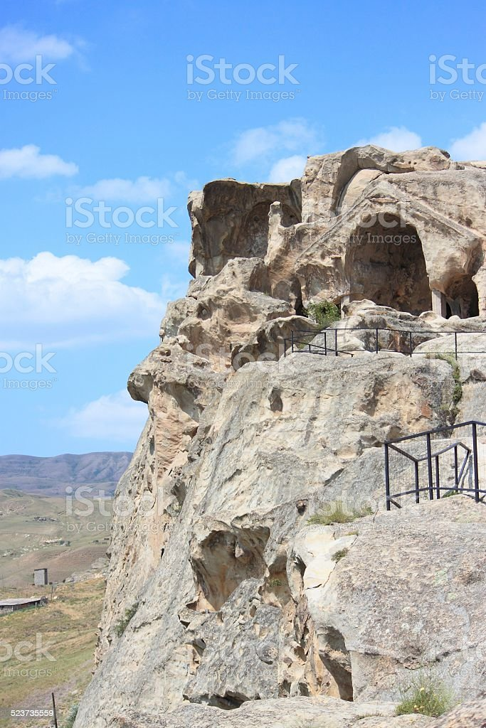Cave ancient pagan city Uplistsihe stock photo