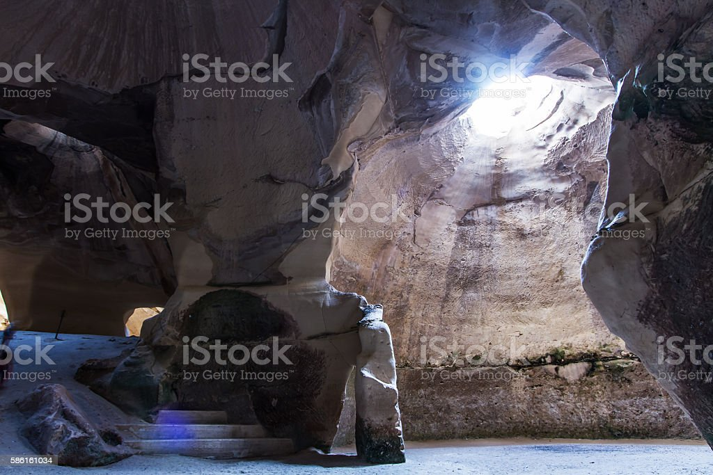 Cave ar Bet Guvrin national park stock photo