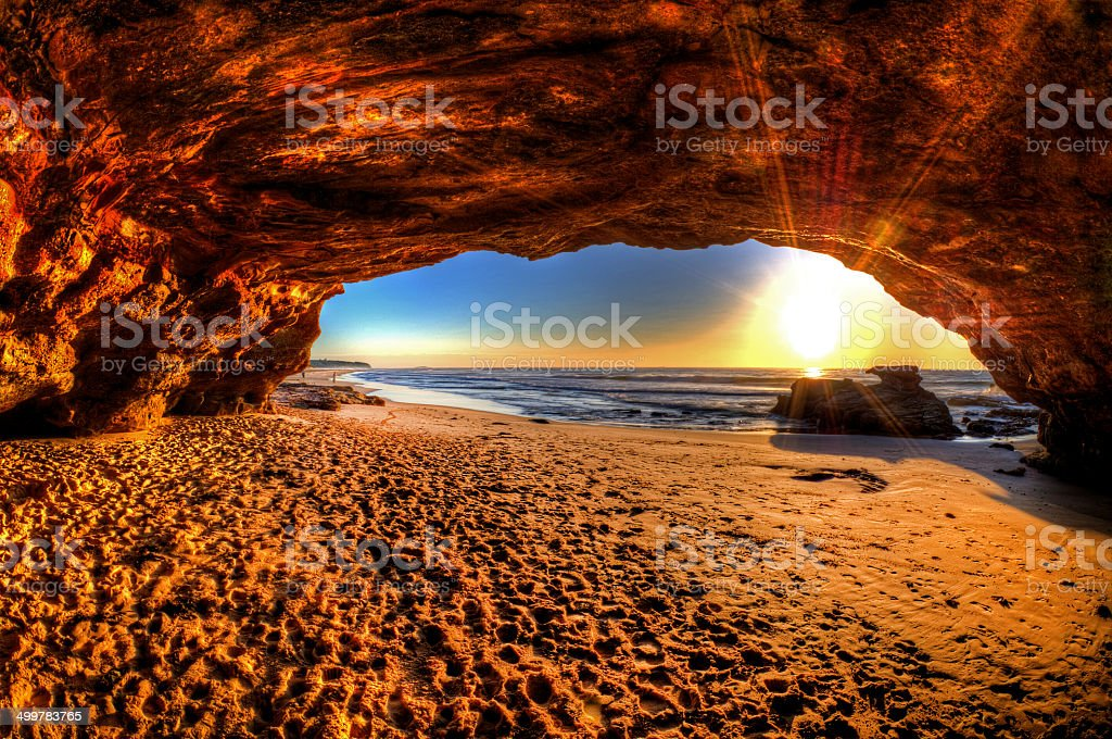 Cave Beach stock photo
