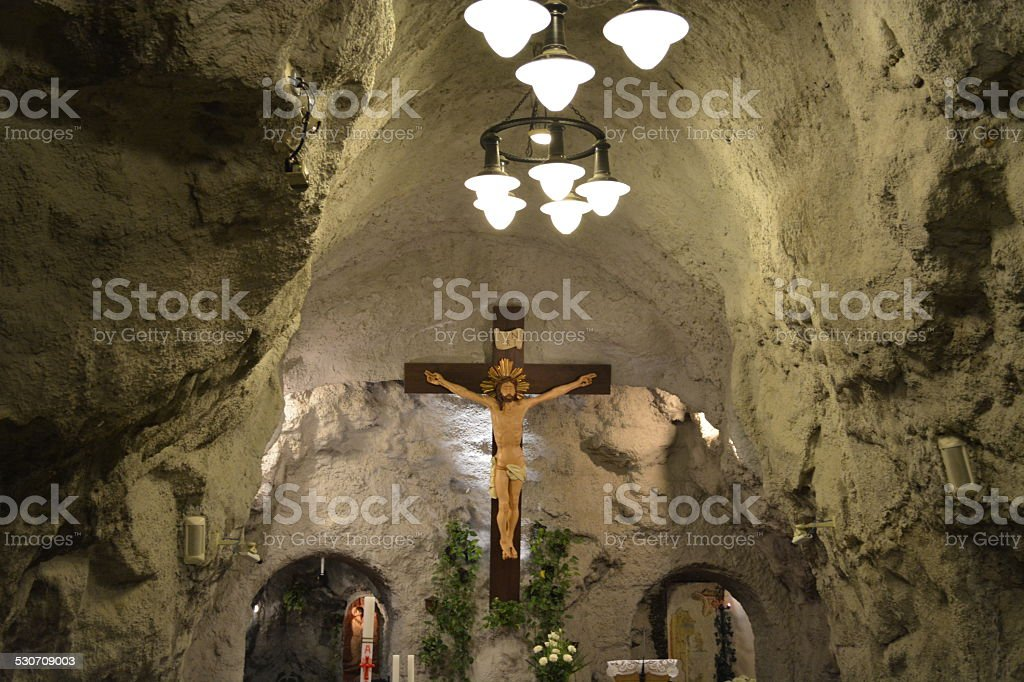 Cave Church stock photo