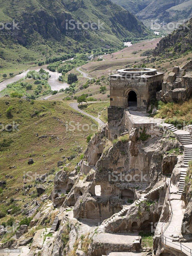 Cave city of Vardzia stock photo