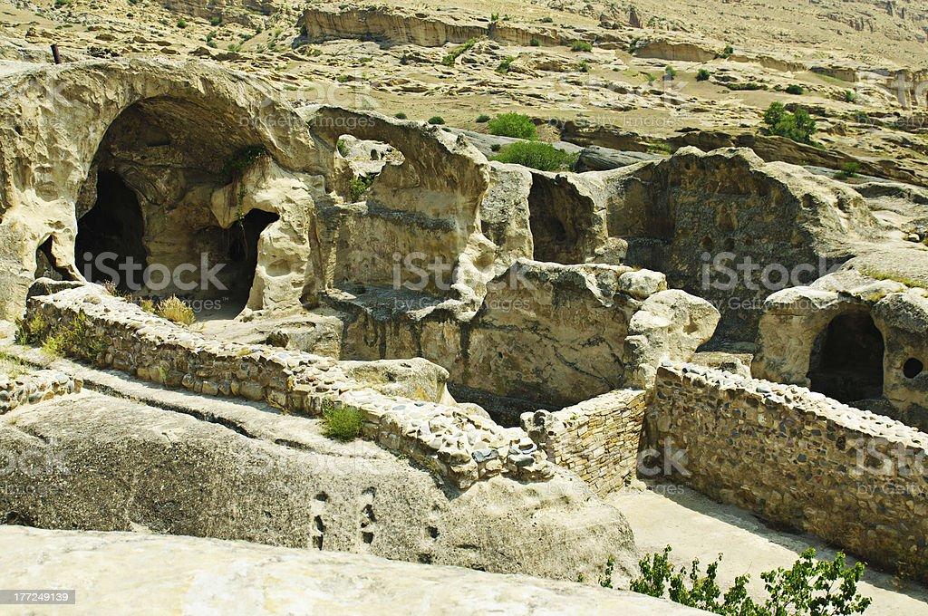 Cave city Uplistsihe stock photo