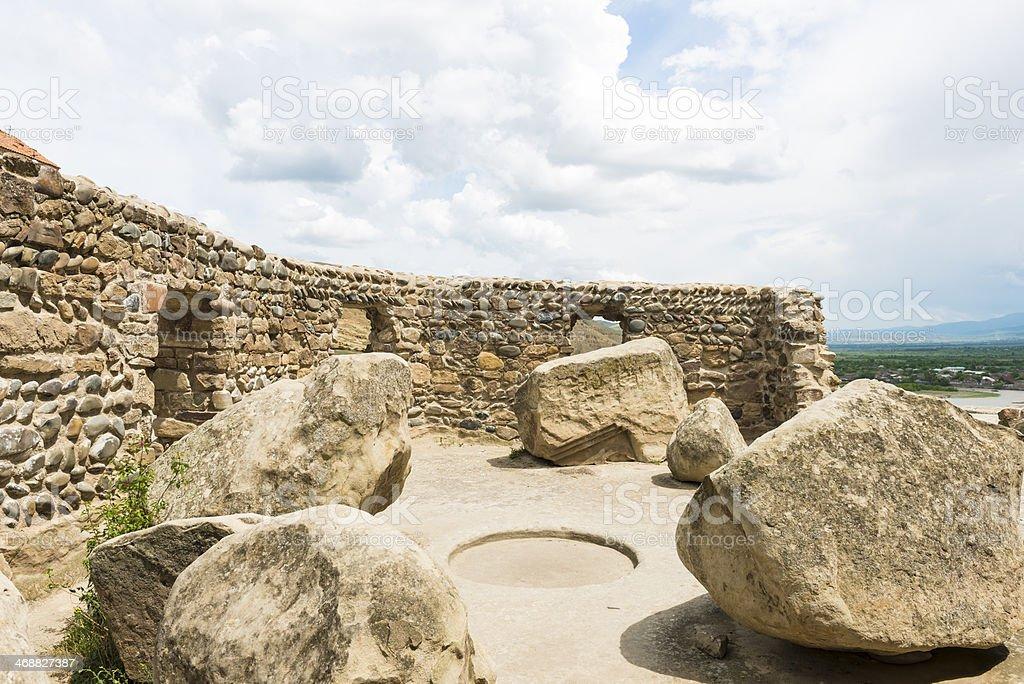 Cave city Uplistsikhe stock photo