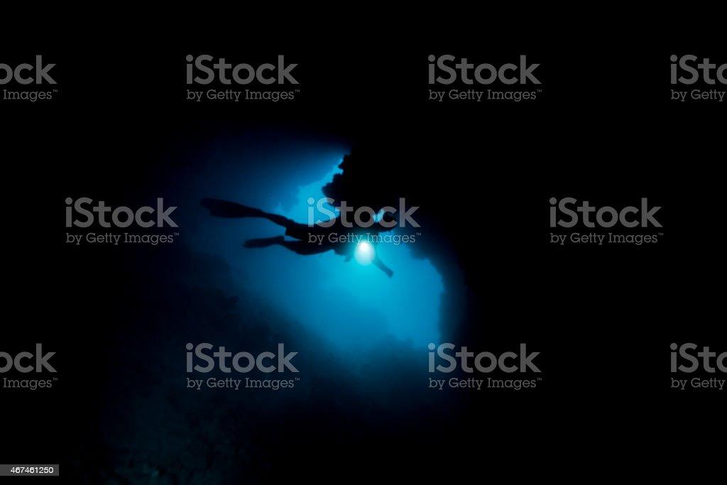 Cave Dive stock photo