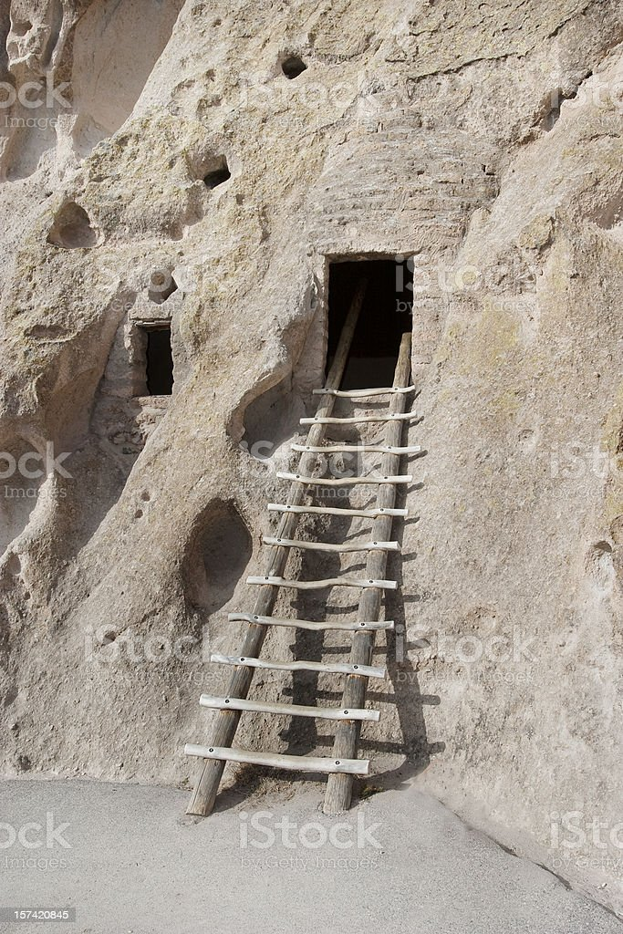 Cave Dwelling in New Mexico stock photo