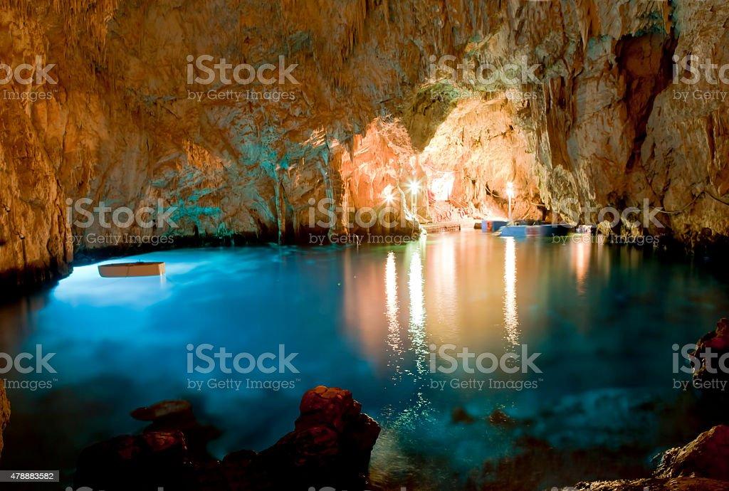 Cave esmerald : Conca dei Marini (SA) Italy stock photo